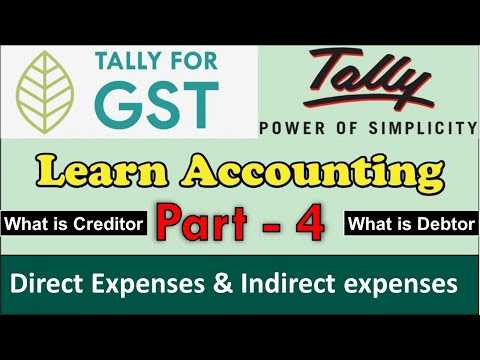 sundry-creditors-and-sundry-debtors-|-direct-and-indirect-expenses-in-tally-part-4-|-tally-with-gst