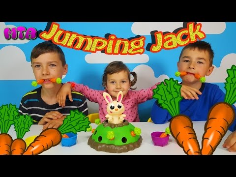 ✔ Jumping Jack Игра Попрыгунчик Джек Выдерни морковку ✔ Прыгающий Джек распаковка 🐇 Зайка Вылетайка
