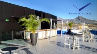 toldo tipo vela para la terraza del hard rock hotel toldos del valle