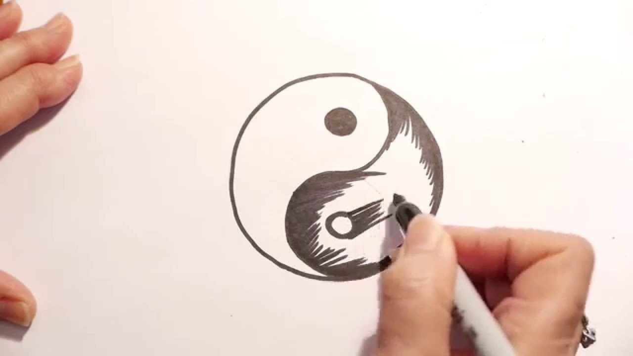 How To Draw A Yin Yang Youtube