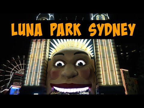 Luna Park Sydney At Night