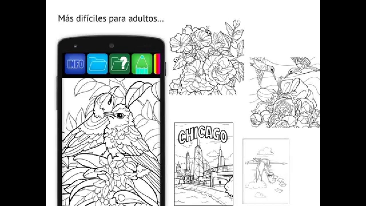 Libro para colorear (Android and iOS App Demo) - YouTube