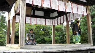 わら天神秋季大祭で魚説経の狂言(2011.10.26)