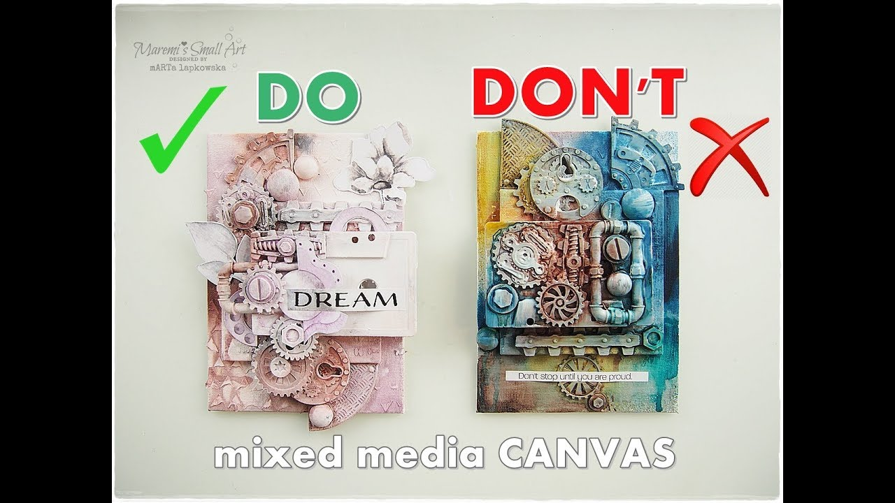 Dos Don Ts Mixed Media Canvas For Beginners Maremi S Small Art Youtube