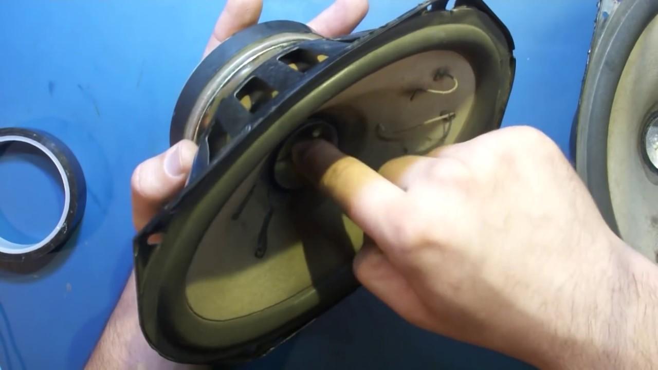 Как удалить мусор из магнитного зазора динамика (чистка динамика)