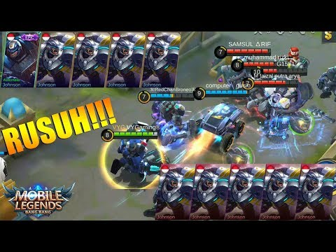 JOHNSON VS JOHNSON - RUSUH BANGET SAMPAI NGE BUG !?! MIRROR MODE MOBILE LEGENDS