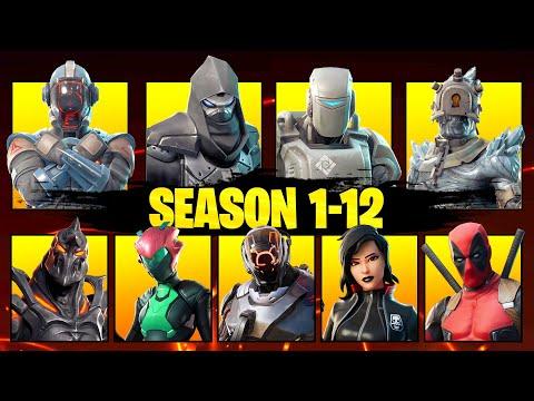 ALL MYSTERY SKINS So Far (Season 1-12)