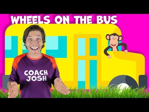 wheels-on-the-bus-|-action-song-for-children-|-coach-josh