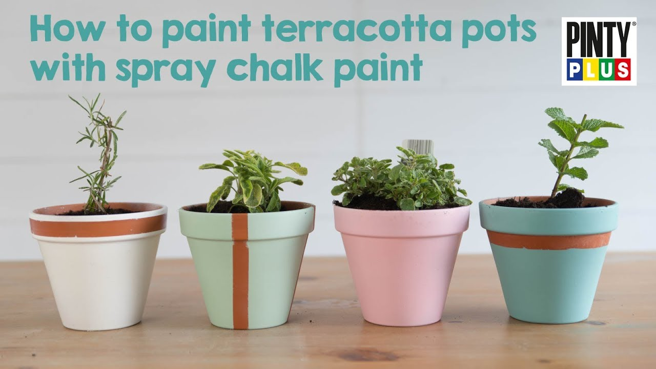 YouTube & How to paint flower pots with chalk paint | DIY/Garden