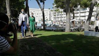 Los Reyes de España llegan a Palma de Mallorca