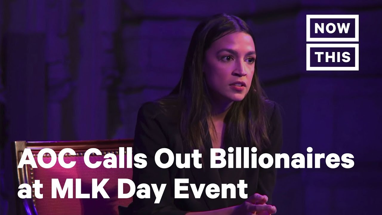 AOC Calls Out Billionaires @ MLK Day Event | Congresswoman Rep. Alexandria Ocasio-Cortez told author Ta-Nehisi Coates | NowThis