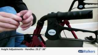Just Walkers: Drive Adjustable Seat Height Rollator(http://justwalkers.com/adjustable-height-rollator-with-6-wheels.html This Adjustable Height Rollator from Drive Medical is easily one of the most customizable ..., 2012-07-31T18:25:39.000Z)
