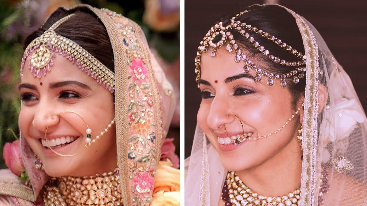 anushka sharma wedding makeup | indian bridal makeup look - youtube