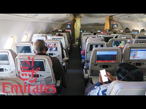 Emirates Airbus A380 | Эконом на верхней палубе | Рейс Дубай - Маврикий