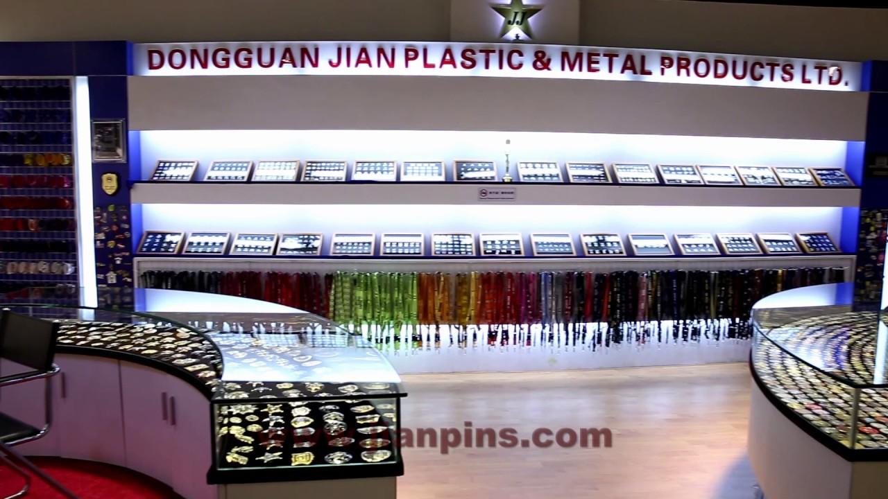 Jian Showroom displays various custom coins & medal