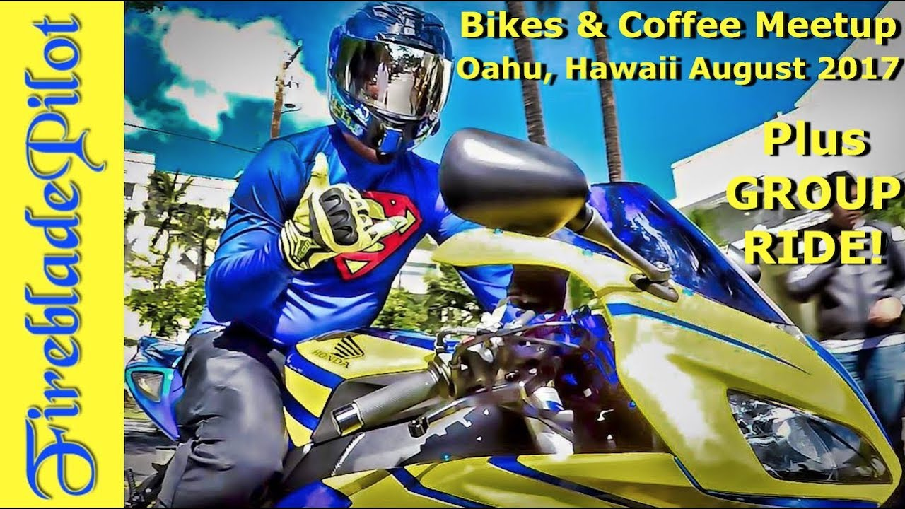 bikes and coffee oahu meetup august 2017 & group ride - youtube