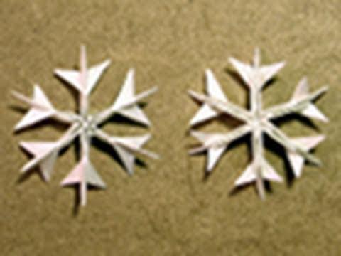 christmas origami instructions: snowflake (jared needle)