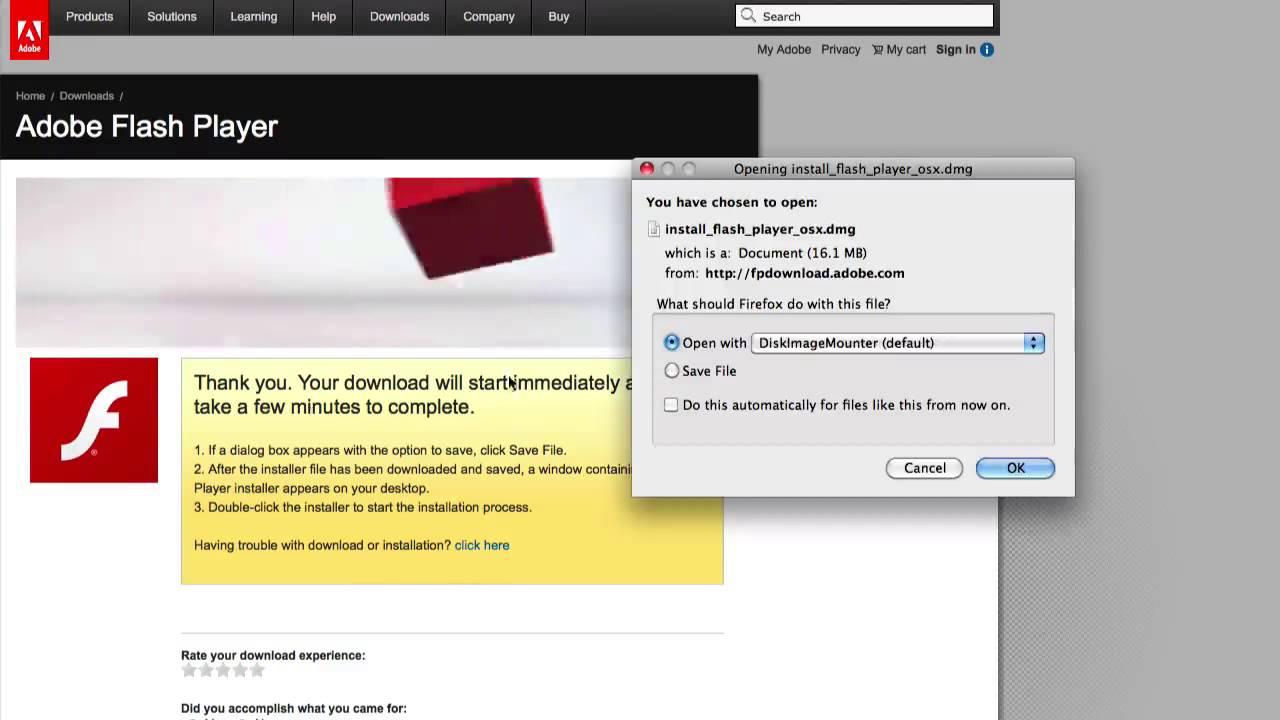 FLASH PLAYER MAC OS X 10.4.11