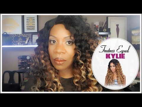 acbb5ccc070 Freetress Equal Kylie Wig- Color PBCOFFEE - YouTube