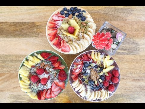 3 HEALTHY BREAKFAST IDEAs! Energy Smoothie Bowls