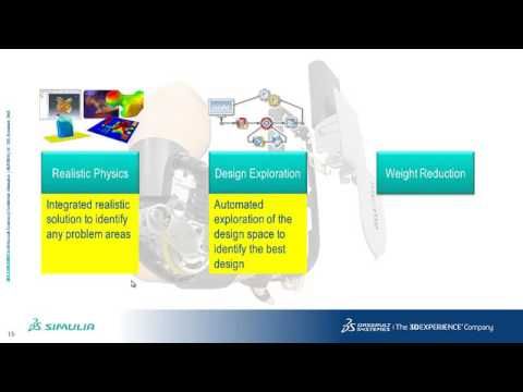 Designing in SolidWorks and Simulating in SIMULIA Abaqus- Power of the Portfolio