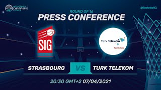 SIG Strasbourg v Türk Telekom - Press Conference | Basketball Champions League 2020/21