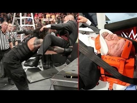 Roman Reigns destroys Triple H after Match || Roman Reigns vs Sheamus & Triple h
