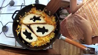 Хлеб с яйцом, как сделать гренки на сковороде