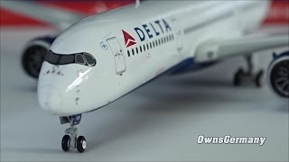 1st Delta Airbus A350 N501DN GeminiJets 1/400 UnBoxing