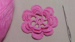 Как вязать ЦВЕТОК. Урок вязания крючком для начинающих.Lesson crochet