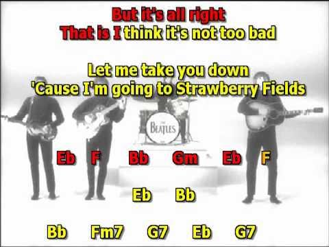 strawberry fields forever best beatles karaoke lyrics chords  instrumental