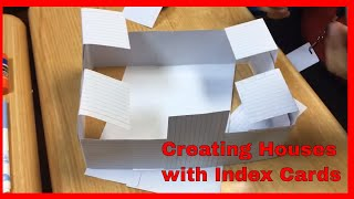 Creating A House With Index Cards - STEM ACTIVITIES