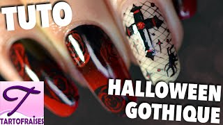 [Halloween Chic] Tuto nail art Gothique Romantique