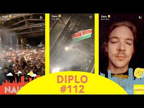 Diplo mixing in Nairobi (Kenya) - snapchat - april 14 2017