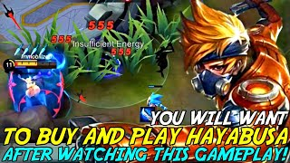 YOU WILL BUY AND PLAY HAYABUSA AFTER WATCHING THIS GAMEPLAY! | MOBILE LEGENDS