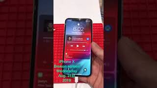 iPhone X broken screen repair assessment