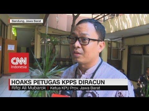 KPU Jabar: Petugas KPPS Diracuni, Bohong!