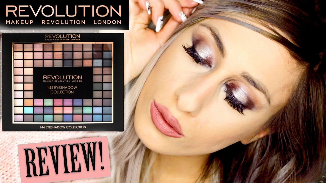 Makeup Revolution 144 Eyeshadow Palette 2016 Collection // Review + Swatches + Demo // DYNA - YouTube
