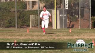 So Cal Birds and CBA Baseball Uncommitted Showcase:  60 Yard Dashes