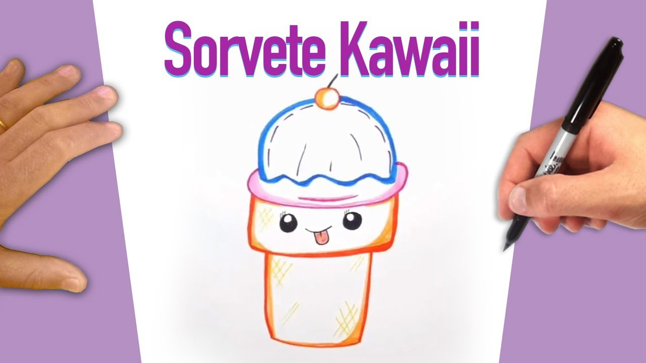 Basico Sorvete Kawaii Desenhos Do Basico Ao Avancado