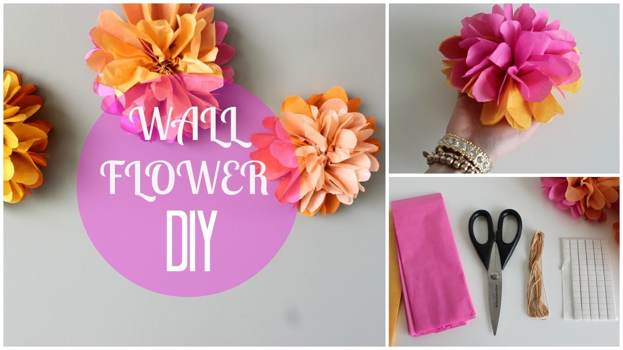 Diy Paper Wall Flowers Youtube