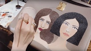 WORK FROM HOME: HOW I PAINT ON HANDBAGS FOR MY CLIENTS | Heart Evangelista