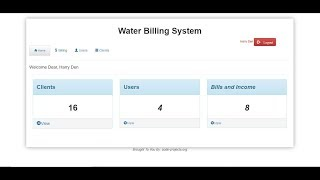 Water billing system in php with source code if you like this projects don't forget to download the by clicking on link below: it fo...