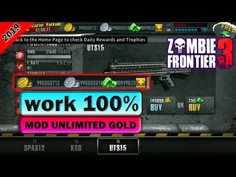 Games Zombie Frontier 3 Unlimited Gold Mod Apk