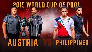Austria vs Philippines | 2019 World Cup of Pool Final