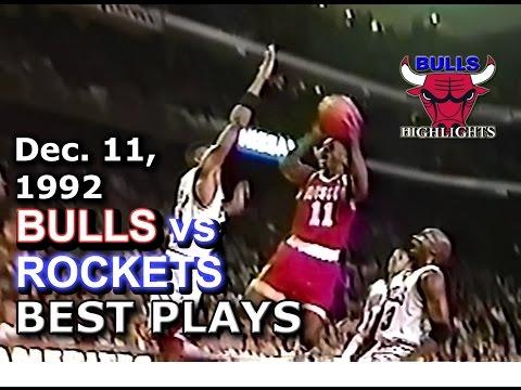 December 11 1992 Bulls vs Rockets highlights
