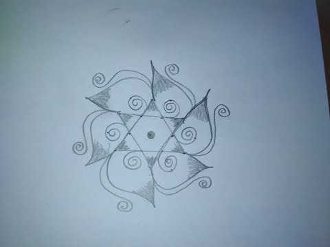 5 Pulli Sikku Kolam Designs - 5 Pulli Kolangal Designs With Dots