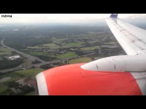 Boeing 737-700 SAS smooth landing in windy weather at Düsseldorf airport