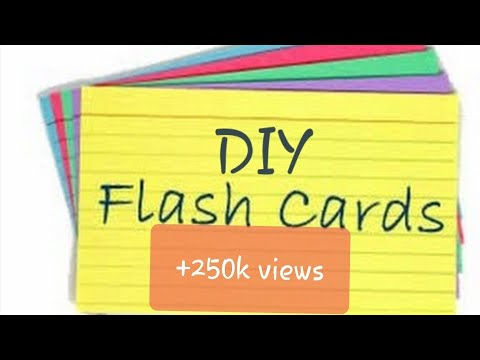 How To Make DIY FLASH CARDS || Easy To Make || Easy To Study With Flash Cards||