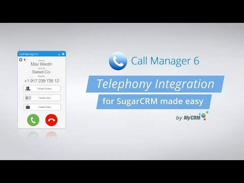 Call Manager 6 - Telephony Integration for SugarCRM
